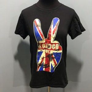 London Unisex T-Shirt Sz S Peace Sign
